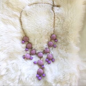 j.crew lilac bubble statement necklace